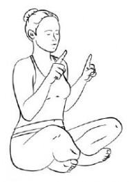Meditation, um den Geist auf einen Punkt zu bringen